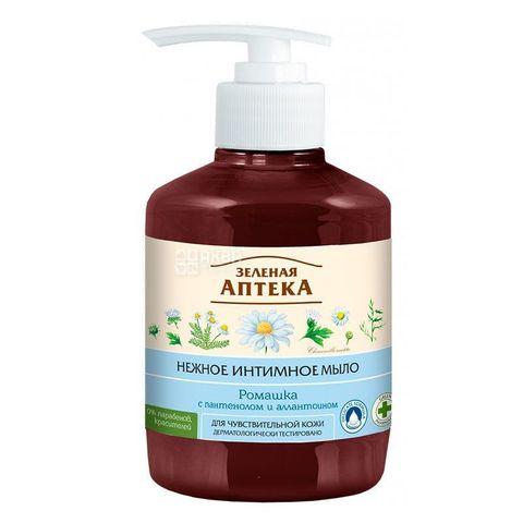 Жидкое мыло для интимной гигиены Ромашка Зеленая аптека, 370 мл с дозатором