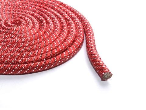 Скакалка для худ. гимн. с люрексом. красный с серебром, м-л: полиамид, 3 м, 40 прядей TS-KC  (Спр) (35608)