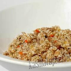 Каша пшеничная с мясом 'Леовит', готовое блюдо