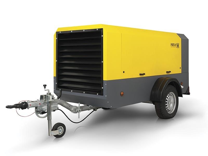 Компрессор дизельный Comprag PORTA 12 DRY на шасси с регулируемым дышлом, с доохладителем и сепаратором конденсата