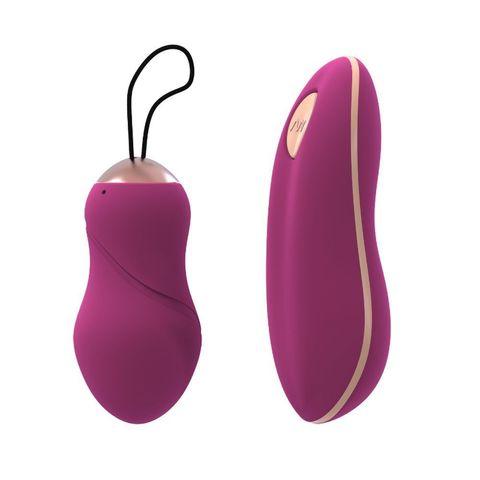 Ярко-розовое виброяйцо Divine Addicted Love Egg с пультом ДУ