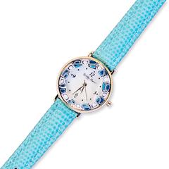 Голубые женские наручные часы