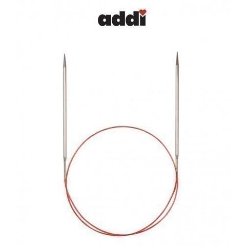 Спицы Addi круговые с удлиненным кончиком для тонкой пряжи 80 см, 4.5 мм