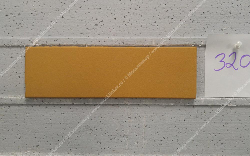 Stroeher - 320 sandgelb, Keravette, unglasiert, неглазурованная, гладкая, 240x71x11 - Клинкерная плитка для фасада и внутренней отделки