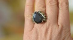 Султан (кольцо + серьги из серебра)
