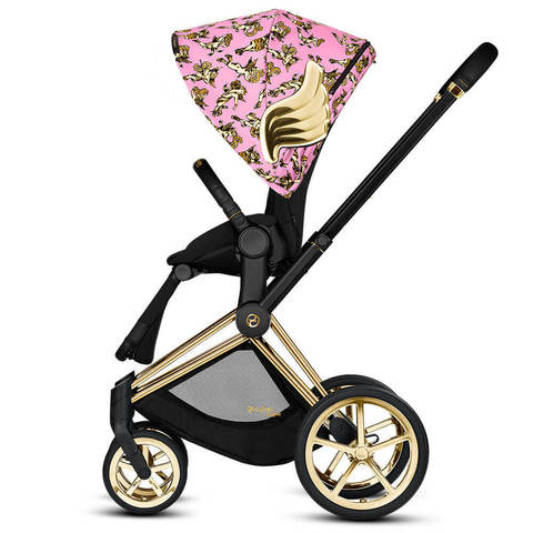 Прогулочная коляска Cybex Priam III by Jeremy Scott Сherubs Pink