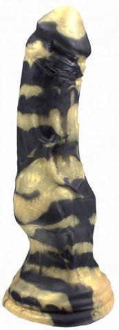 Черно-золотистый фаллоимитатор  Оборотень medium  - 30,5 см.