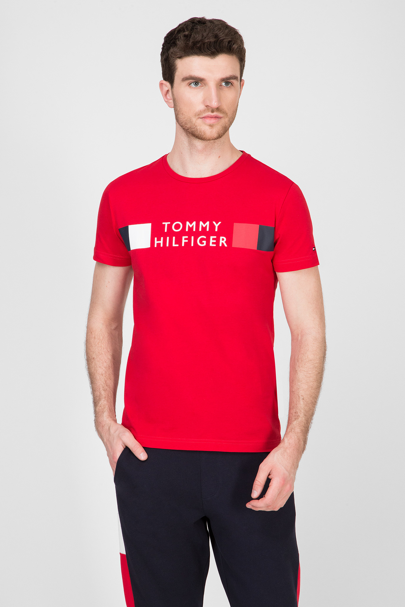 Мужская красная футболка RWB STRIPE Tommy Hilfiger