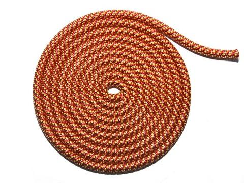 Скакалка для худ. гимн. с люрексом. красный, желтый, серебром, м-л: полиамид, 3 м, TS-KC