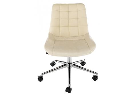 Офисное кресло для персонала и руководителя Компьютерный стул Marco бежевый 62*62*77 Хромированный металл /Бежевый