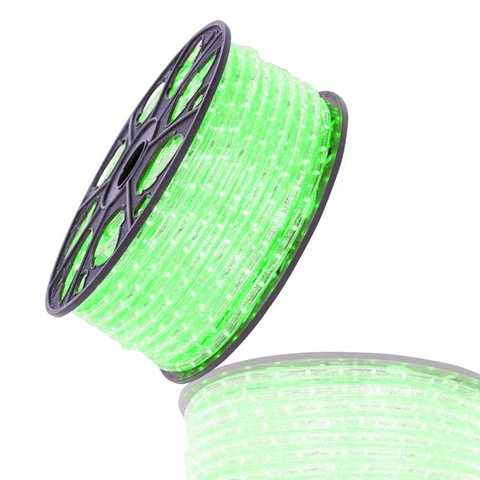 Зеленый гофрированный дюралайт 100 метров led