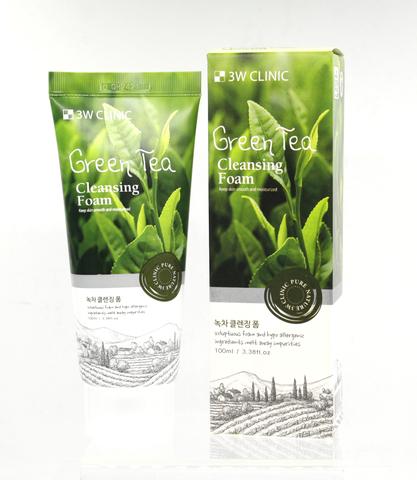 3W CLINIC  Foam Cleansing Green Tea Пенка для умывания ЗЕЛЕНЫЙ ЧАЙ.