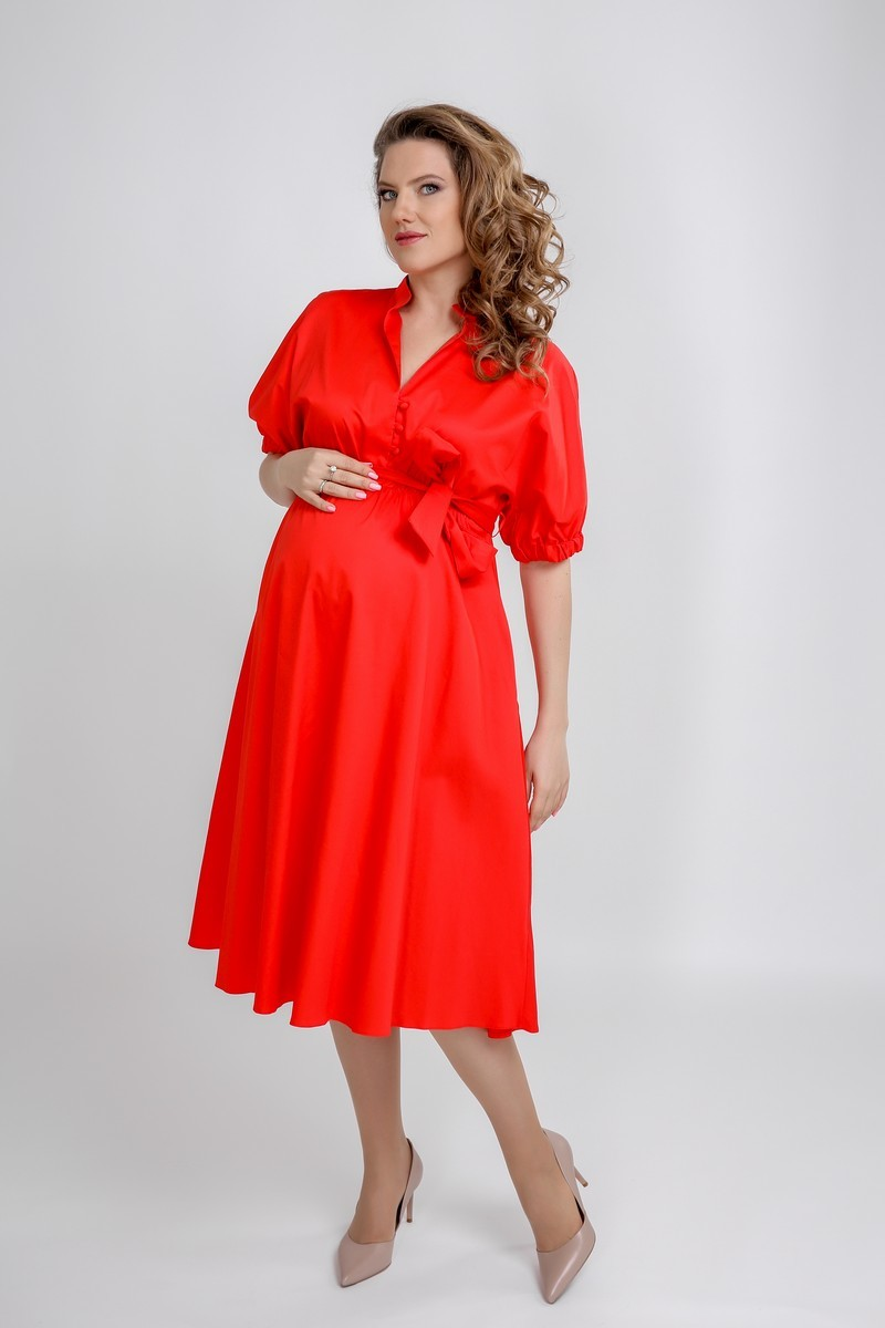 Платье для беременных 09564 красный
