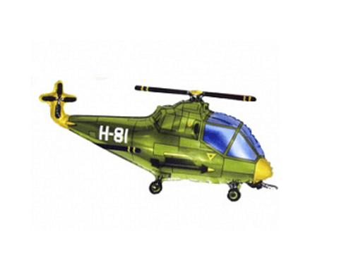 Вертолет зеленый фигурка