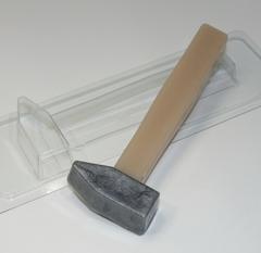 Пластиковая форма для шоколада большой строительный инструмент МОЛОТОК 150х55мм. Глубина 20мм.