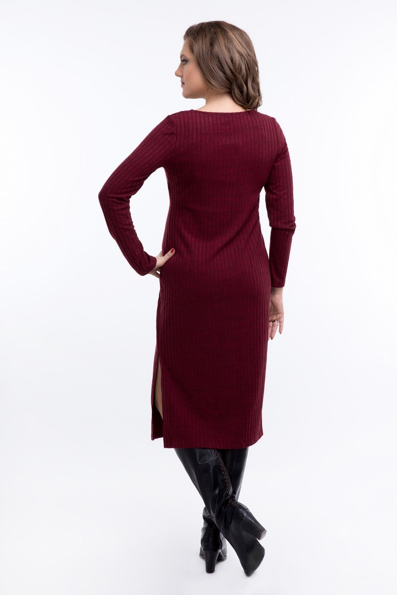 Фото платье для беременных GEMKO, трикотажное от магазина СкороМама, бордовый, размеры.