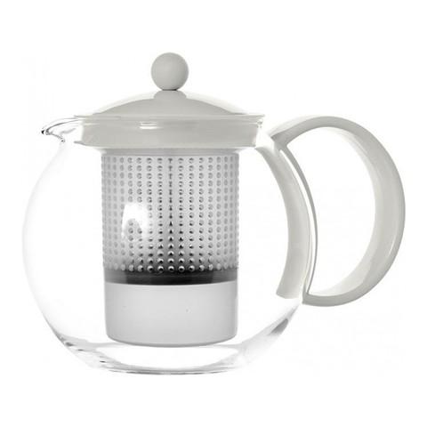 Чайник заварочный с прессом Bodum Assam (1 литр), белый