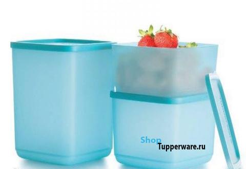 Контейнер Кубикс набор  в голубом цвете