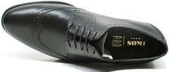 Черные деловые туфли мужские дерби броги Ikos 1157-1 Classic Black.