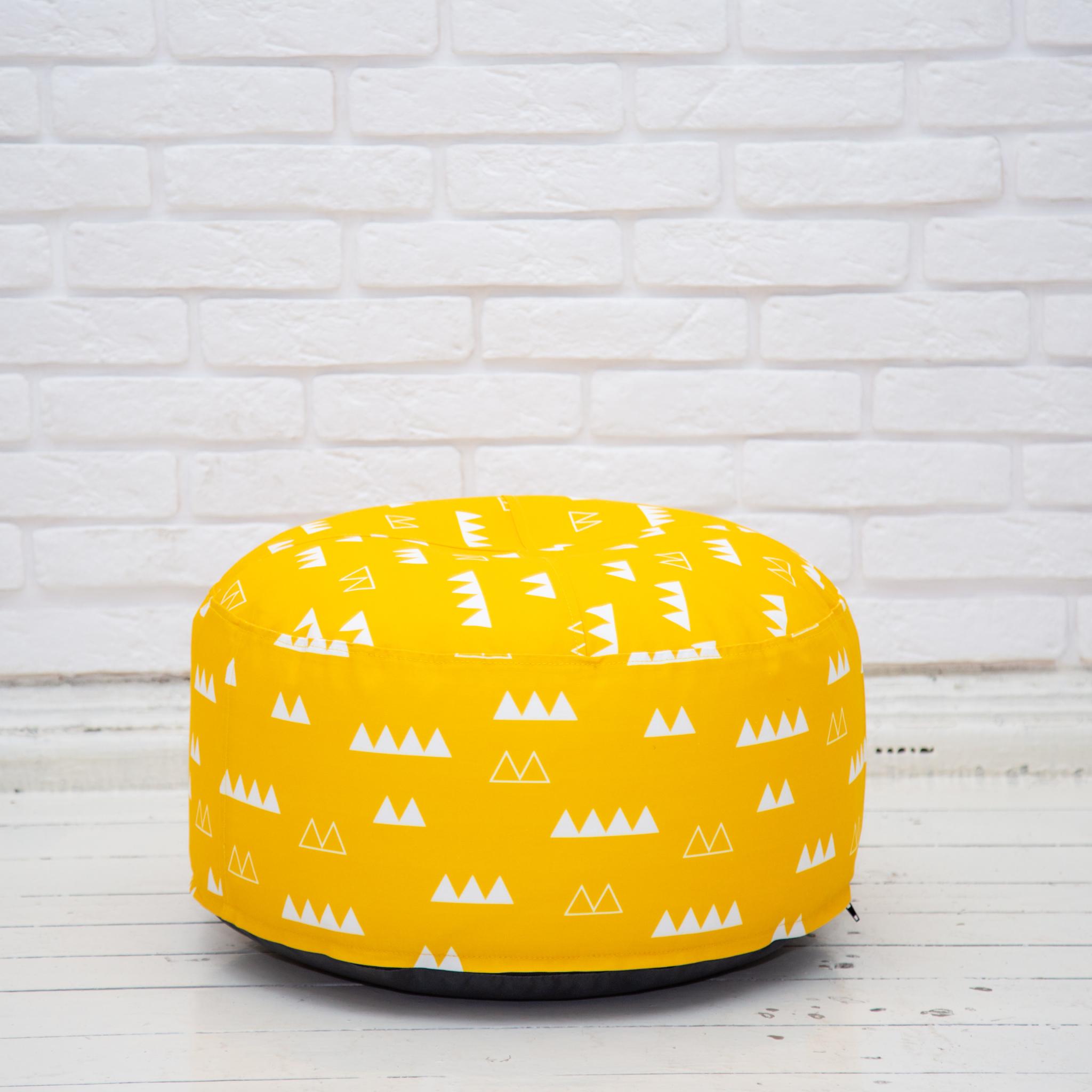 Пуф дизайнерский (жёлтый)