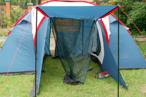 Палатка Canadian Camper SANA 4 PLUS, цвет royal, главный вход.