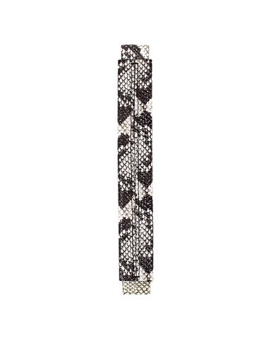 Сменная ручка черно-белого цвета с фактурой питона