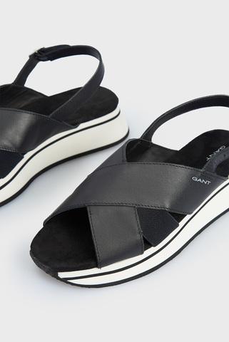 Женские черные кожаные сандалии JAIDYN Gant