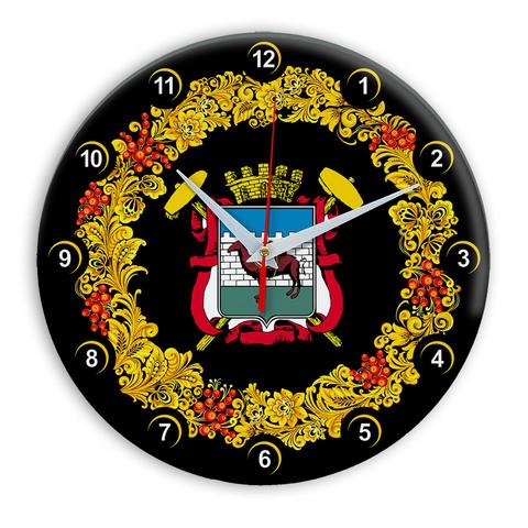 Часы в стиле Хохлома сувенирные Челябинск 03