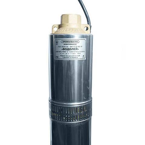 Насос скважинный Водолей НВП 0,32-63 У - 1,27 кВт (однофазный, Qmax 35 л/мин,Hmax 90 м, кабель 63 м)