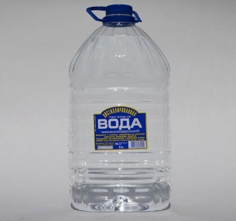 Вода дистиллированная 5л ГОСТ 6709-72