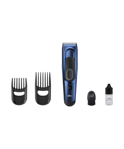Машинка для стрижки Braun HC 5030, аккум/сетевая, 2 насадки, синяя