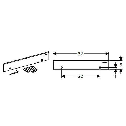 Декоративный элемент для внутристенного трапа Geberit 154.336.FW.1 схема