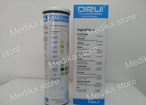 Тест-полоски Дируи DIRUI H-10 к анализатору мочи Dirui H-100, 100шт/уп DIRUI Industrial Co, Ltd