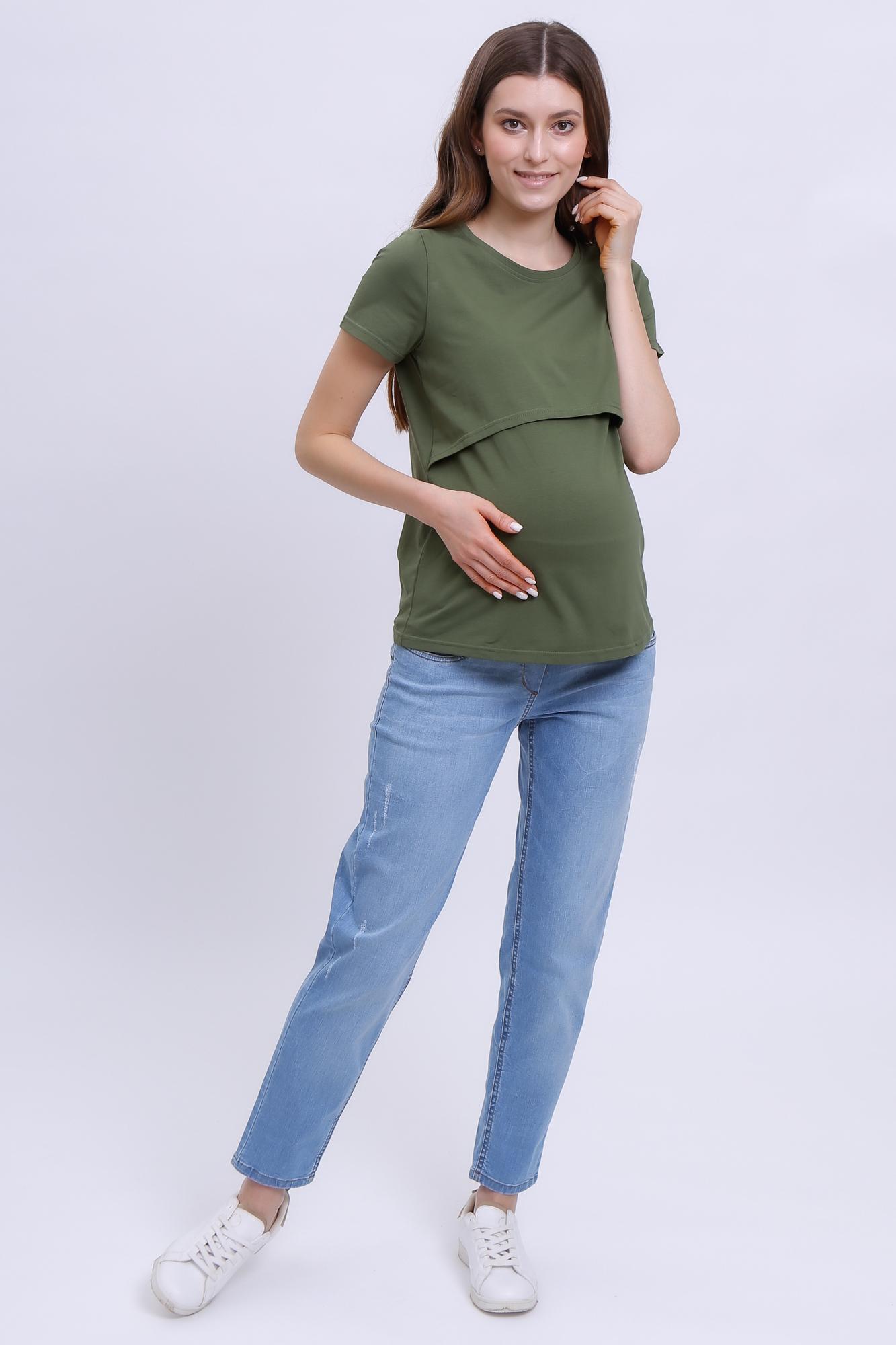 Джинсы для беременных (BOYFRIEND) 12418 голубой