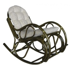 Кресло-качалка из ротанга Vinotti Идиллия Олива