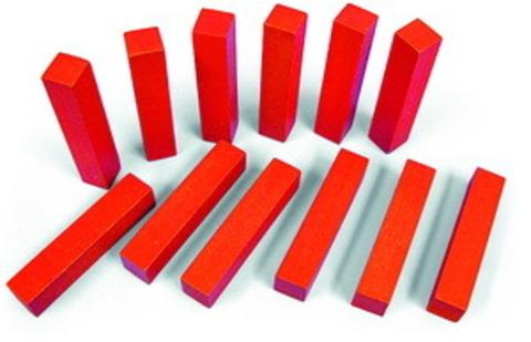 Счетные палочки 12 шт красные