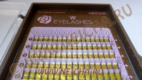 Ресницы NEICHA тройные W-тип MIX 16 линий