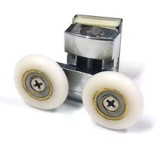 Ролик для душевой кабины М-07-В 26 мм. Монтаж нижний. Полиуретановый ролик закрытый подшипник. Регулировка пружиной.