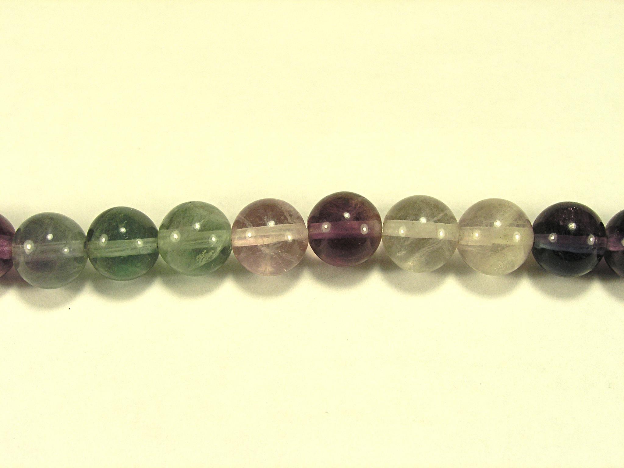 Бусина из флюорита радужного, шар гладкий 8 мм