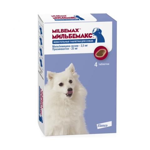 Мильбемакс жевательные таблетки для мелких собак 4 таб.