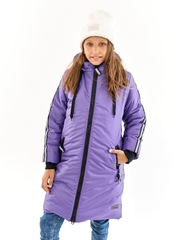 Пальто для девочки Спорт черничный