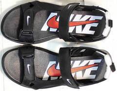 Босоножки найк мужские сандалии из натуральной кожи Nike 40-3 Leather Black.