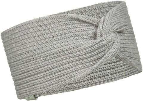 Вязаная повязка на голову Buff Headband Knitted Norval Light Grey фото 1