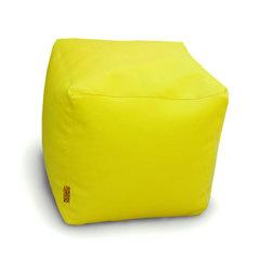 Пуфик куб Желтый