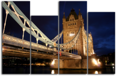 "Модульная картина ""Тауэрский мост Лондон"""