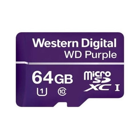 Карта памяти Micro SDХC 64GB WDPurple