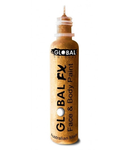 Гель-блестки Global 36 мл голографические золотые