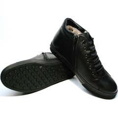 Зимние ботинки кеды мужские Ridge 6051 X-16Black
