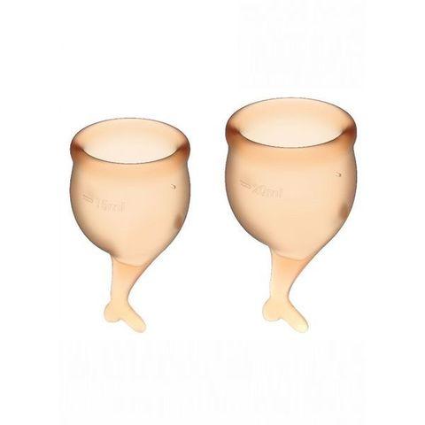 Satisfyer Feel secure Набор менструальных чаш Оранжевый