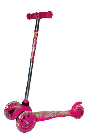 Самокат складной детский трехколесный KM-А53/P. Цвет - розовый (14260)